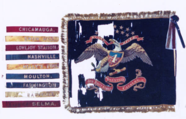 Regimental Colors of the 4th O.V.C.