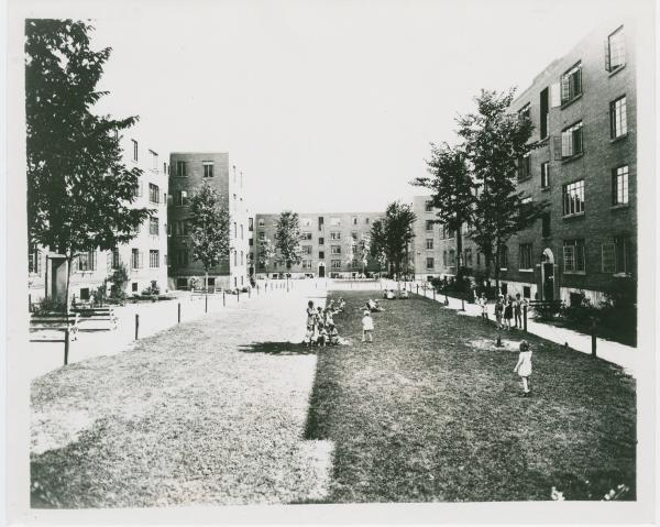 Apartment complex photograph