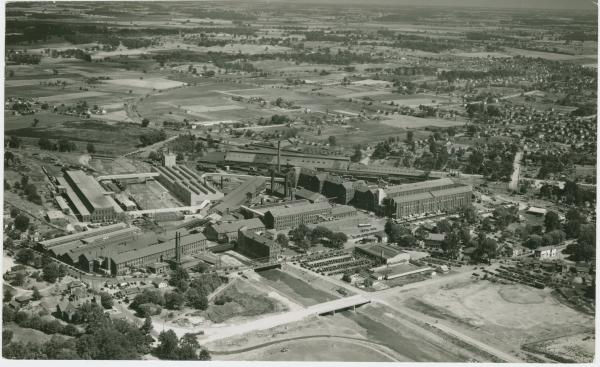 Aerial view of the International Harvester Company in Springfield, Ohio