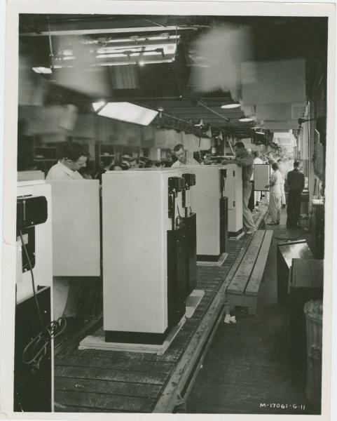 Final refigerator assembly at Westinghouse Electric Company