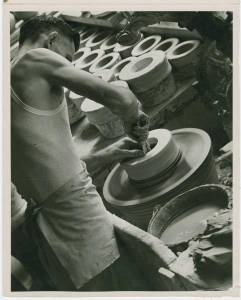 Wellers Pottery worker