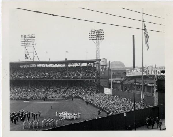 Opening game at Crosley Field