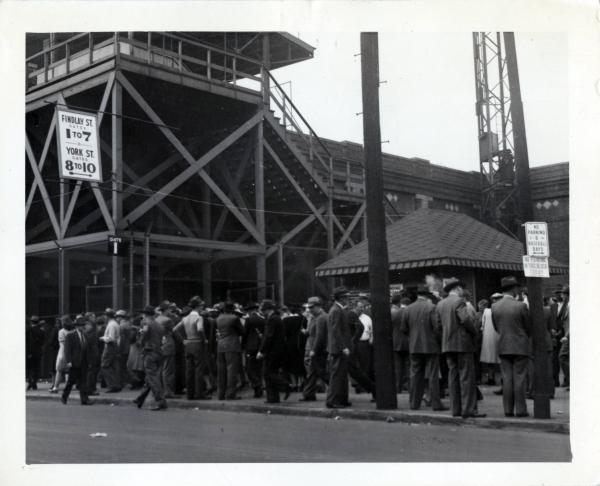 Ticket counter at Crosley Field