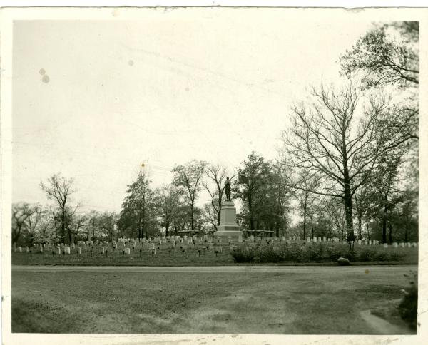 Soldiers' Mound in Ferncliff Cemetery