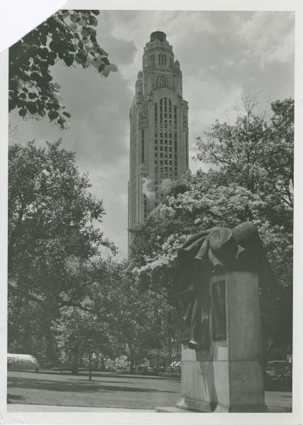American Insurance Union Citadel Building and Peace Statue