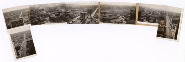 Downtown Youngstown aerial panorama