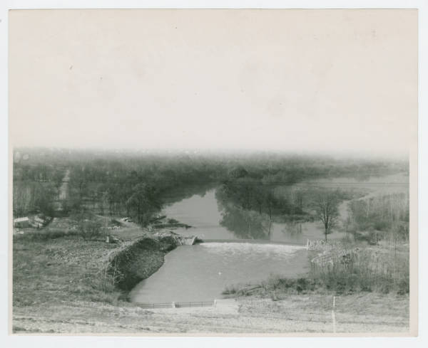 New Dam and Lake Above Englewood Dam Built by C.C.C. photograph