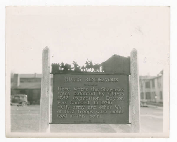 Hull's Redezvous marker photograph