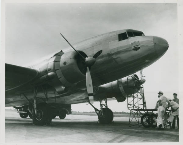 DC-3 at Cleveland Airport photograph