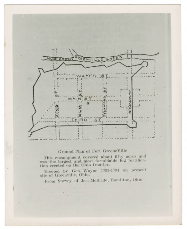 Ground Plan of Fort Greeneville photograph