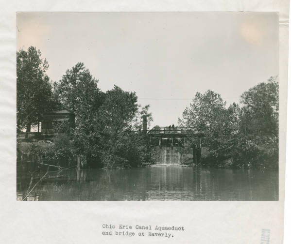 Ohio and Erie Canal Aquaduct and bridge photograph