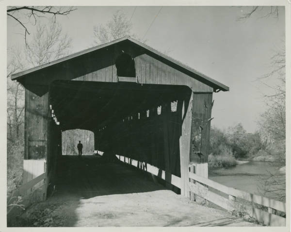 Covered bridge at Snyderville photograph
