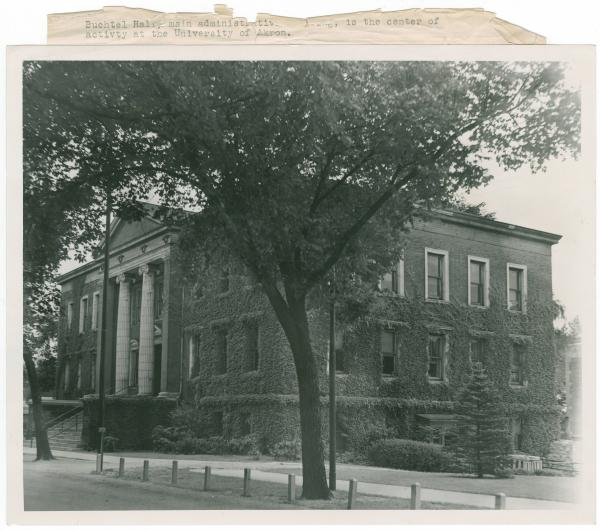 University of Akron, Buchtel Hall photograph