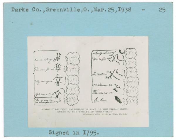 Treaty of Greenville Indian signatures