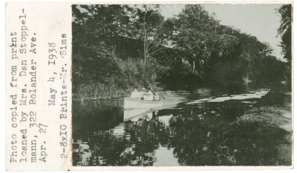 Motorboat on Miami & Erie Canal photograph