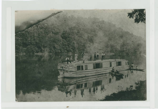 Canal boat on Ohio and Erie Canal photograph