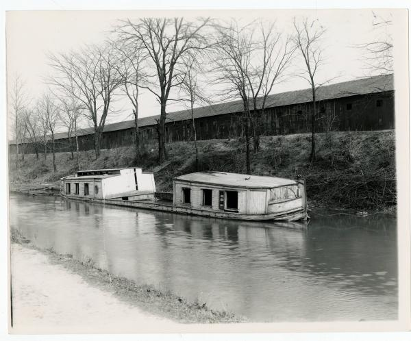 Canal boat abandoned on Miami and Erie canal photograph
