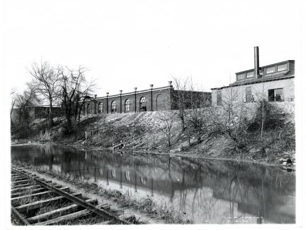 Miami and Erie canal in Dayton, Ohio