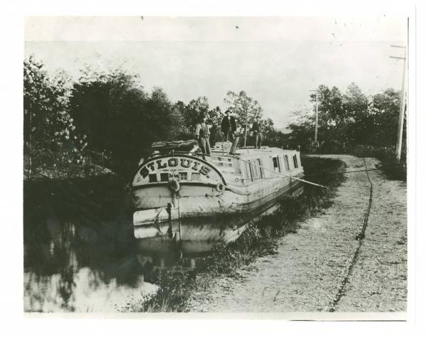 Boat on Miami and Erie Canal photograph