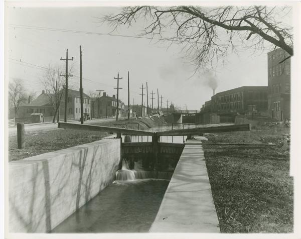 Locks on the Miami and Erie Canal in Dayton, Ohio