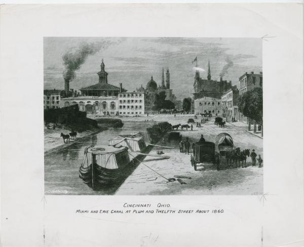 Miami and Erie Canal in Cincinnati, Ohio