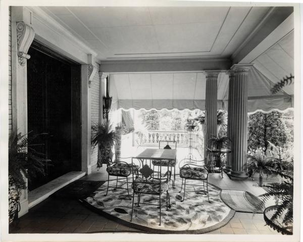 Charles Williams residence porch