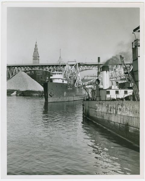 Ships on the Cuyahoga River