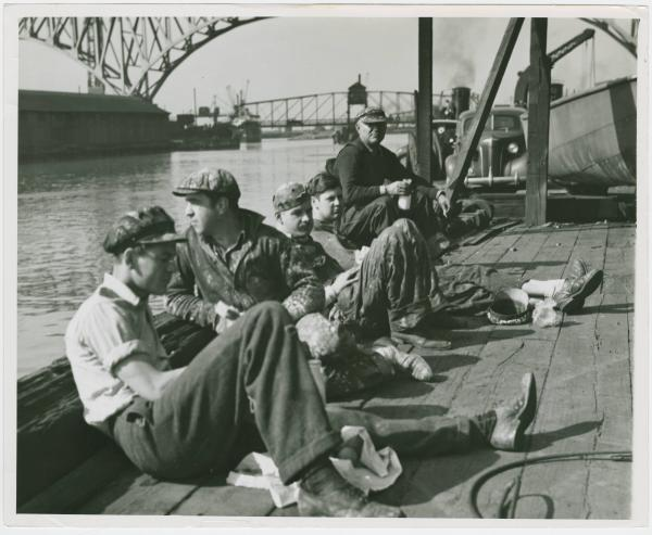 Cuyahoga River dock workers