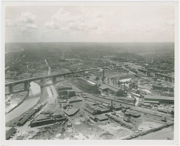 Aerial view of Cleveland, Ohio