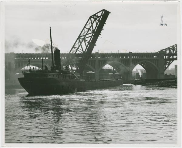Freighter on the Cuyhoga River