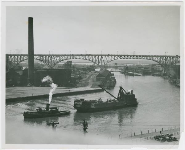 River traffic on the Cuyahoga