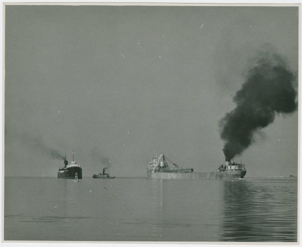 Boats on Lake Erie photograph