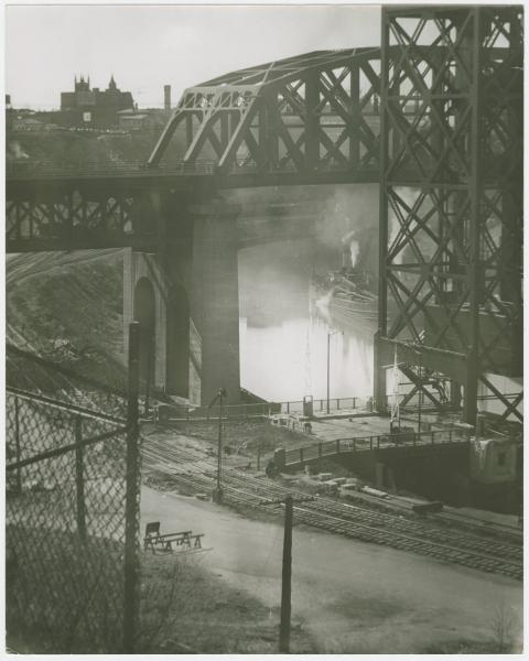 View of the Cuyahoga River in Cleveland