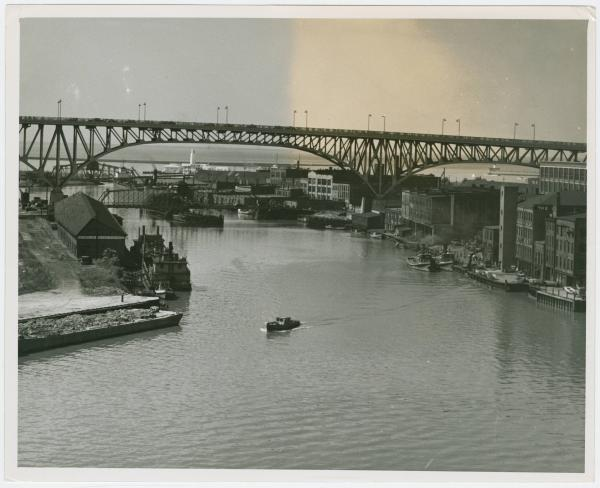 View of the Cuyahoga River