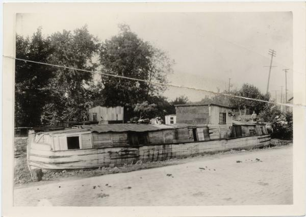 Canal boat house photograph