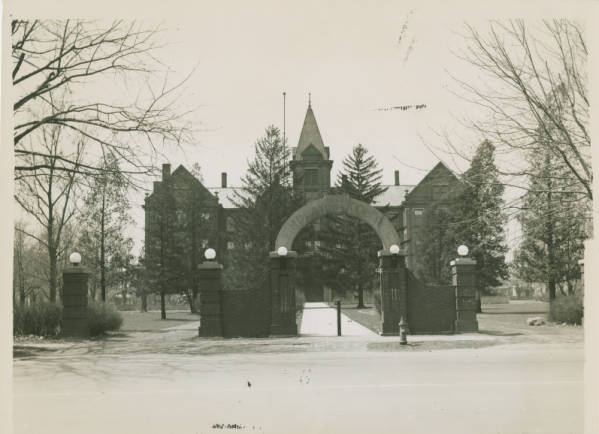 Old Main Findlay College Photograph