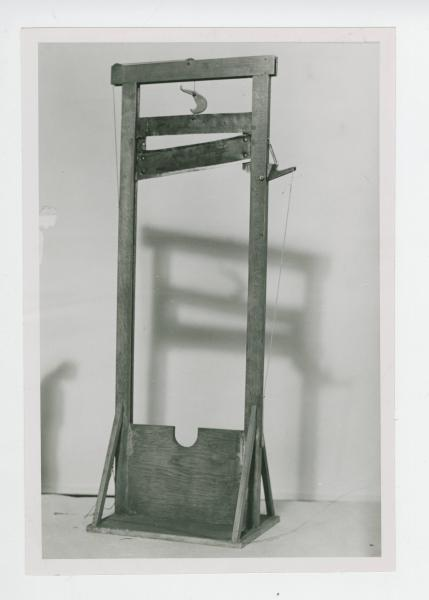 Ohio State School for the Blind model guillotine