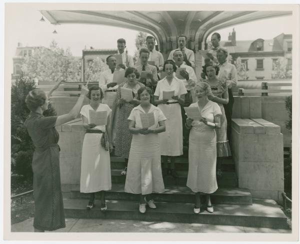Choral group at Lytle Park