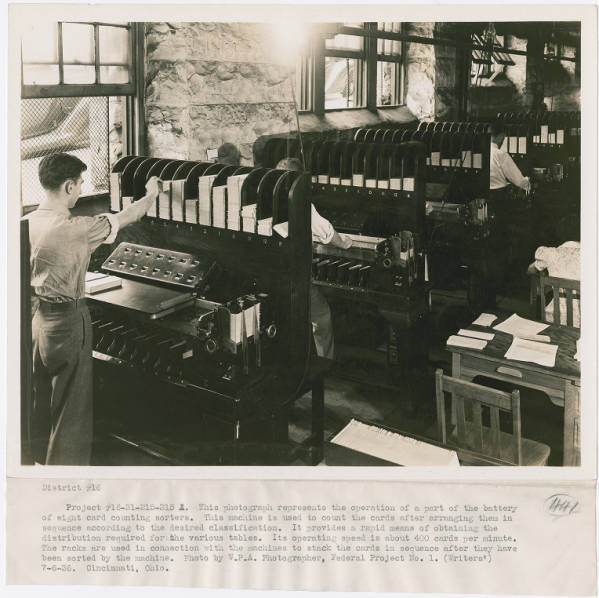 Card counting sorters photograph