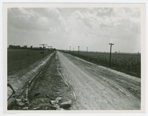 Road construction in Eaton