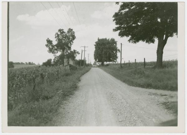 Road in Eaton before construction