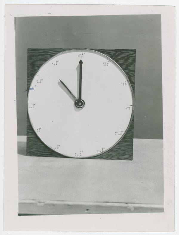 Ohio State School for the Blind braille clock