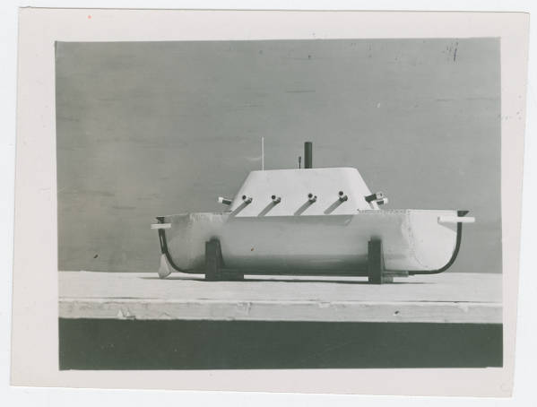 Ohio School for the Blind Merrimac warship model