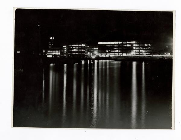 Goodyear Tire and Rubber Company Plant at night