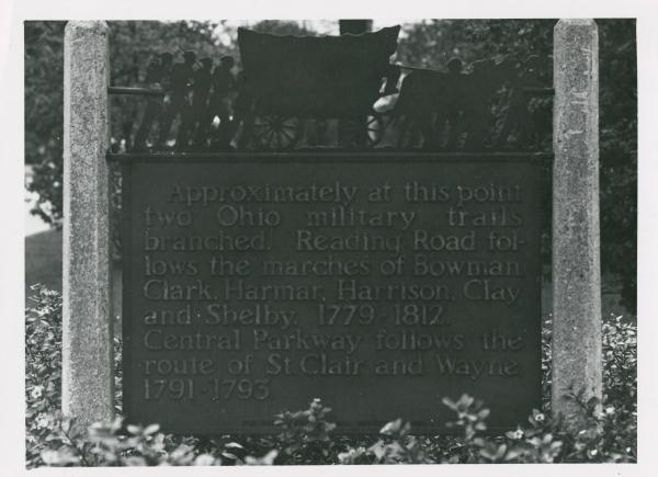 Military trail marker in Cincinnati