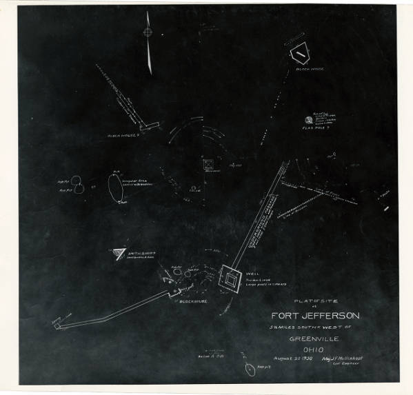 Fort Jefferson site map