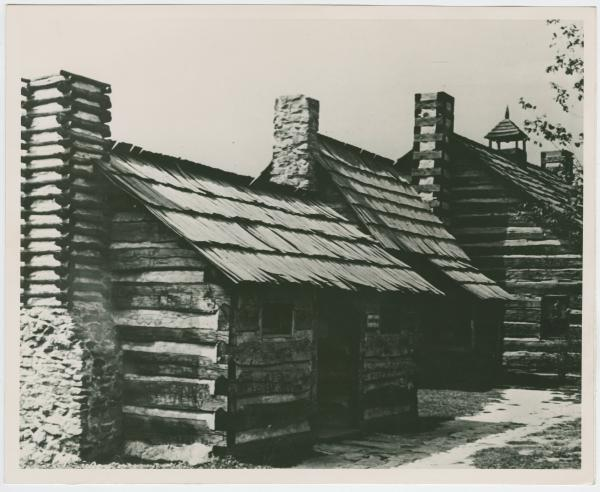 Cabins at Schoenbrunn State Park photograph