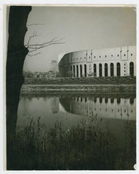 Ohio Stadium, from Olentangy River photograph