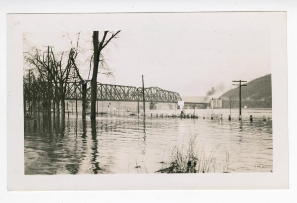 1937 Ohio River flood in Steubenville, Ohio