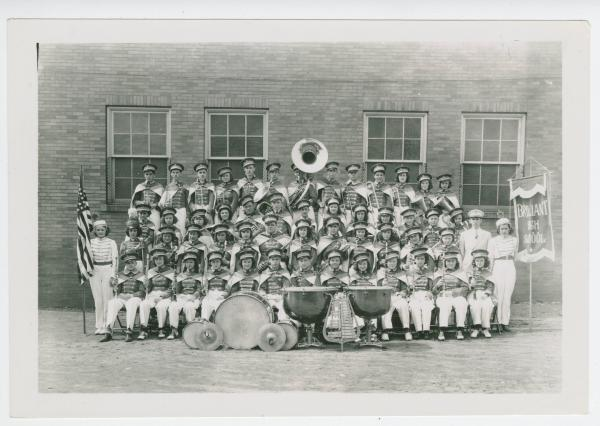 Brilliant High School marching band photograph